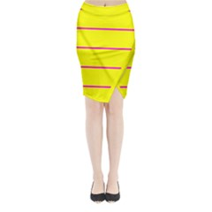 Background Image Horizontal Lines And Stripes Seamless Tileable Magenta Yellow Midi Wrap Pencil Skirt