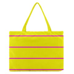 Background Image Horizontal Lines And Stripes Seamless Tileable Magenta Yellow Medium Zipper Tote Bag