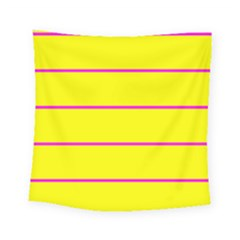 Background Image Horizontal Lines And Stripes Seamless Tileable Magenta Yellow Square Tapestry (small)