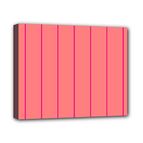 Background Image Vertical Lines And Stripes Seamless Tileable Deep Pink Salmon Canvas 10  x 8