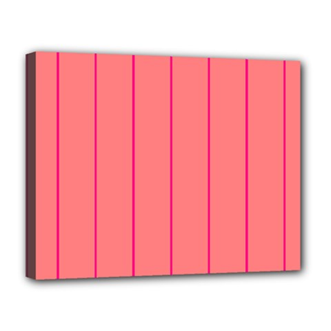 Background Image Vertical Lines And Stripes Seamless Tileable Deep Pink Salmon Canvas 14  X 11