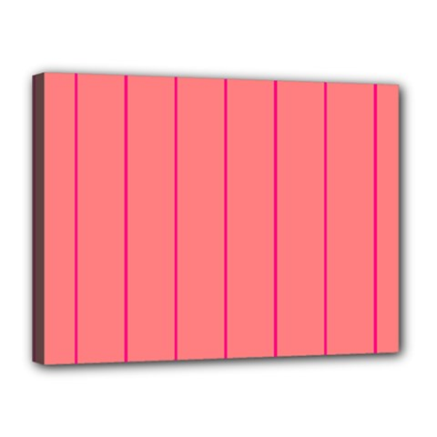 Background Image Vertical Lines And Stripes Seamless Tileable Deep Pink Salmon Canvas 16  X 12