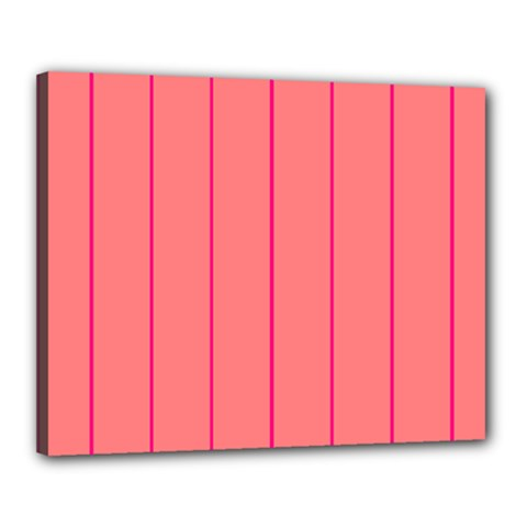Background Image Vertical Lines And Stripes Seamless Tileable Deep Pink Salmon Canvas 20  X 16