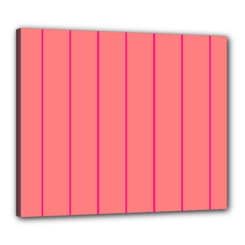 Background Image Vertical Lines And Stripes Seamless Tileable Deep Pink Salmon Canvas 24  X 20