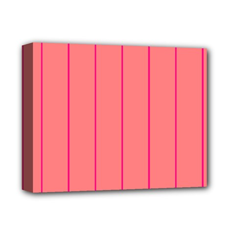 Background Image Vertical Lines And Stripes Seamless Tileable Deep Pink Salmon Deluxe Canvas 14  X 11