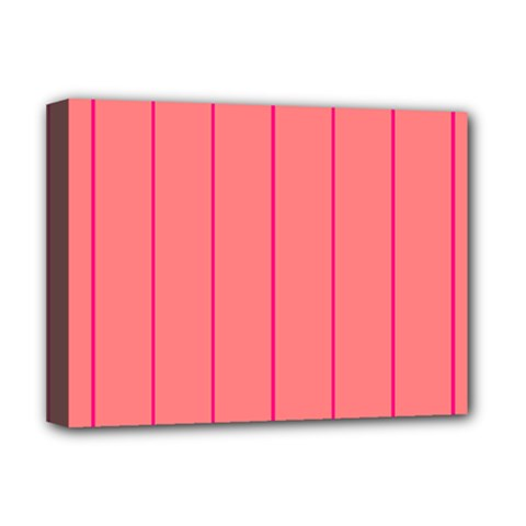 Background Image Vertical Lines And Stripes Seamless Tileable Deep Pink Salmon Deluxe Canvas 16  X 12