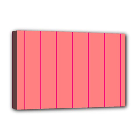 Background Image Vertical Lines And Stripes Seamless Tileable Deep Pink Salmon Deluxe Canvas 18  X 12