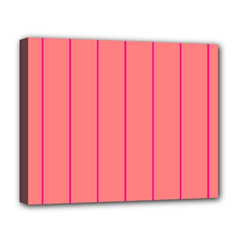 Background Image Vertical Lines And Stripes Seamless Tileable Deep Pink Salmon Deluxe Canvas 20  X 16