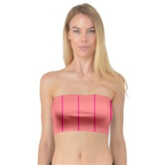 Background Image Vertical Lines And Stripes Seamless Tileable Deep Pink Salmon Bandeau Top