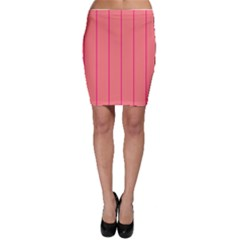 Background Image Vertical Lines And Stripes Seamless Tileable Deep Pink Salmon Bodycon Skirt