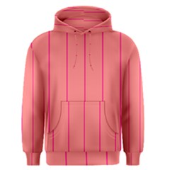 Background Image Vertical Lines And Stripes Seamless Tileable Deep Pink Salmon Men s Pullover Hoodie