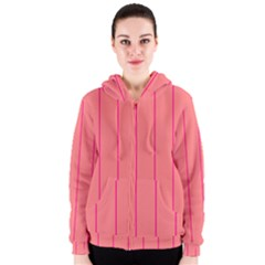 Background Image Vertical Lines And Stripes Seamless Tileable Deep Pink Salmon Women s Zipper Hoodie