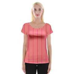 Background Image Vertical Lines And Stripes Seamless Tileable Deep Pink Salmon Women s Cap Sleeve Top