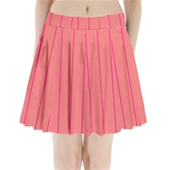 Background Image Vertical Lines And Stripes Seamless Tileable Deep Pink Salmon Pleated Mini Skirt