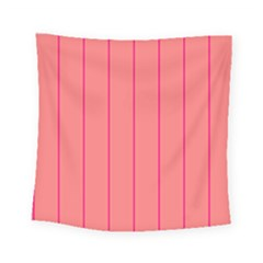 Background Image Vertical Lines And Stripes Seamless Tileable Deep Pink Salmon Square Tapestry (small)