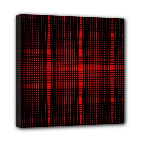 Black And Red Backgrounds Mini Canvas 8  X 8