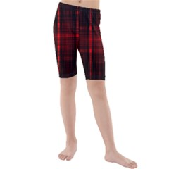 Black And Red Backgrounds Kids  Mid Length Swim Shorts