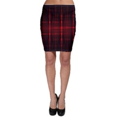 Black And Red Backgrounds Bodycon Skirt