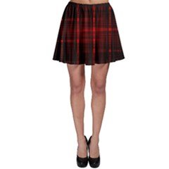 Black And Red Backgrounds Skater Skirt