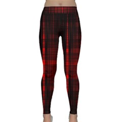 Black And Red Backgrounds Classic Yoga Leggings