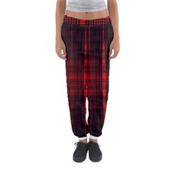 Black And Red Backgrounds Women s Jogger Sweatpants