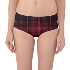 Black And Red Backgrounds Mid Waist Bikini Bottoms