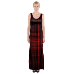 Black And Red Backgrounds Maxi Thigh Split Dress