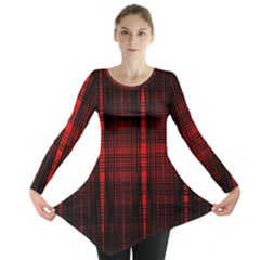 Black And Red Backgrounds Long Sleeve Tunic