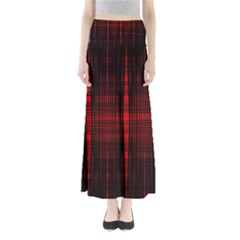 Black And Red Backgrounds Maxi Skirts