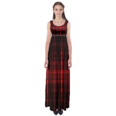 Black And Red Backgrounds Empire Waist Maxi Dress