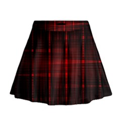 Black And Red Backgrounds Mini Flare Skirt