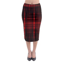 Black And Red Backgrounds Midi Pencil Skirt