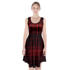 Black And Red Backgrounds Racerback Midi Dress