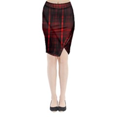 Black And Red Backgrounds Midi Wrap Pencil Skirt