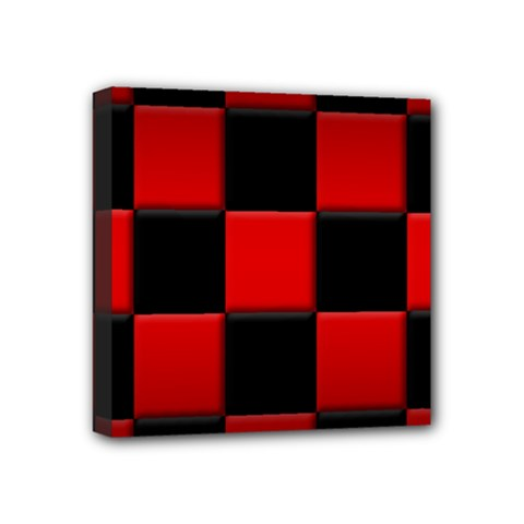 Black And Red Backgrounds Mini Canvas 4  X 4