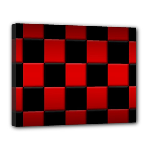 Black And Red Backgrounds Canvas 14  X 11