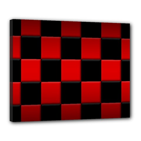 Black And Red Backgrounds Canvas 20  X 16