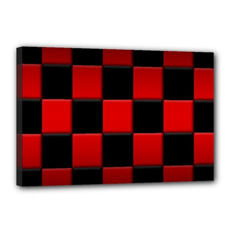 Black And Red Backgrounds Canvas 18  X 12