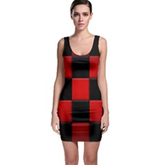 Black And Red Backgrounds Sleeveless Bodycon Dress