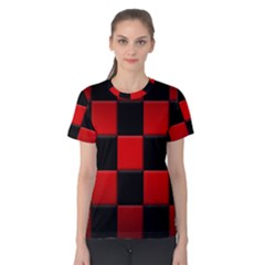Black And Red Backgrounds Women s Cotton Tee