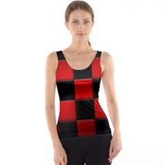 Black And Red Backgrounds Tank Top