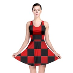 Black And Red Backgrounds Reversible Skater Dress