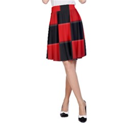 Black And Red Backgrounds A Line Skirt