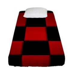 Black And Red Backgrounds Fitted Sheet (single Size)