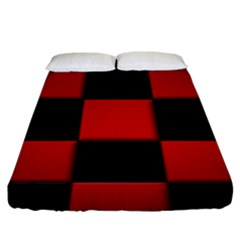 Black And Red Backgrounds Fitted Sheet (king Size)