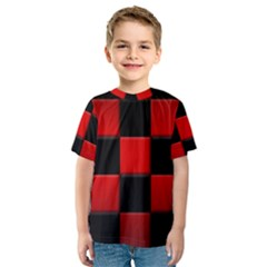 Black And Red Backgrounds Kids  Sport Mesh Tee