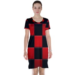 Black And Red Backgrounds Short Sleeve Nightdress