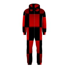 Black And Red Backgrounds Hooded Jumpsuit (kids)
