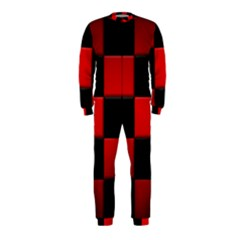 Black And Red Backgrounds Onepiece Jumpsuit (kids)