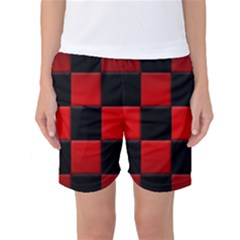 Black And Red Backgrounds Women s Basketball Shorts